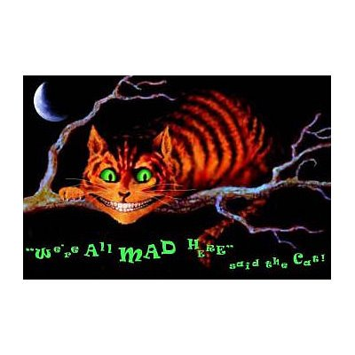 Alice in Wonderland (Cheshire Cat, We're All Mad Here) Blacklight Poster Print - 36x24 Blacklight Poster Print, 34x22 Blacklight Poster Print, 36x24