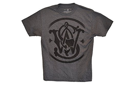 smith-wesson-sciolto-maglietta-con-logo-charcoal-heather-l