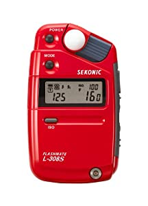 Sekonic 401-302 L-308S Flashmate Light Meter Anniversary Edition for Strobes - Red