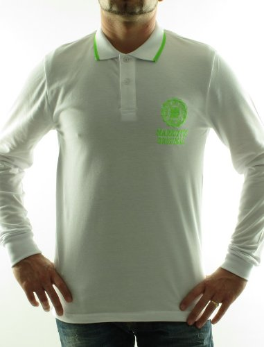 Narkotic Nk1222 Straight White Man Polo Shirts Men - Xl