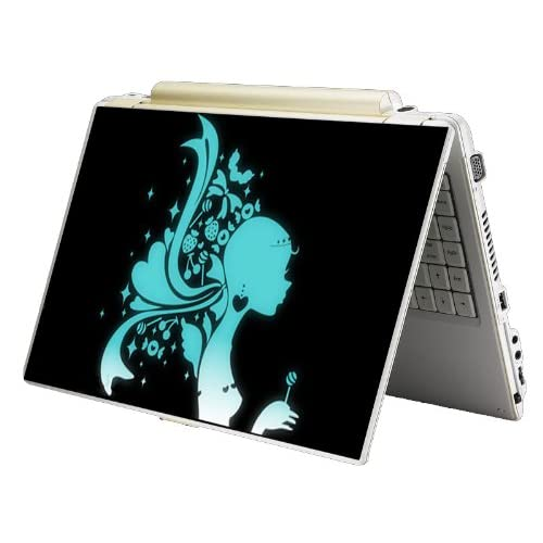 Bundle Monster Laptop Notebook Skin Sticker Cover Art Decal   12 14 15   Fit HP Dell Asus Compaq   Green Lady