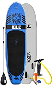 Isle 10ft Inflatable Stand Up Paddle Board with Pump and 3 Piece Adjustable Travel Paddle (6
