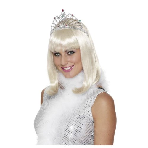 Smiffys Adult Princess Pageant Costume Silver Rhinestone Tiara