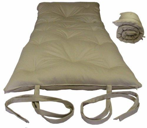 Shopping brand new tan traditional japanese floor futon for Japanese mattress floor