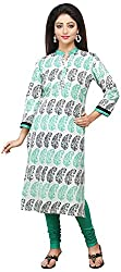 Vastra Vinod Women's Cotton Kurta (Aug13tn, Multi-Coloured, XX-Large)