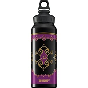 SIGG 1 Litre Aluminum Bottle (Wide Mouth Black Taj Mahal)