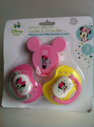 Minnie Mouse Pacifier & Holder Set - 1