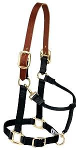 Weaver Leather 35-6026-BK Nylon Breakaway Halter for Large Horse, 1-Inch, Black