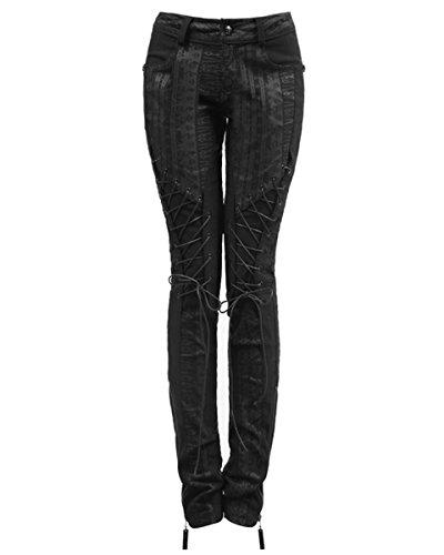 Punk Rave -  Jeans  - Donna Black L - Formato delle donne 44