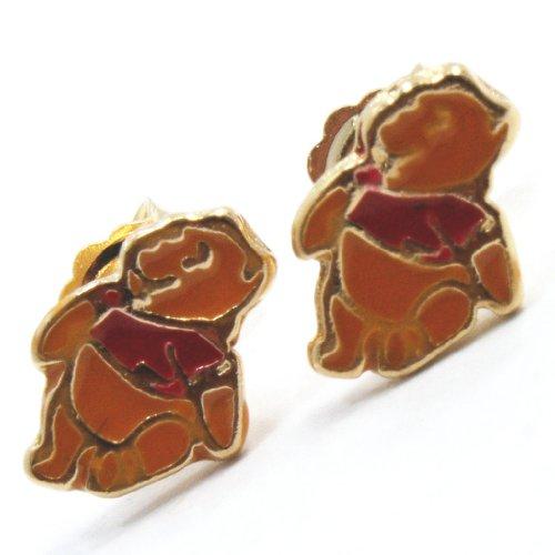 Gold Plated Gf Earrings Toddler Girl Kids Teddy