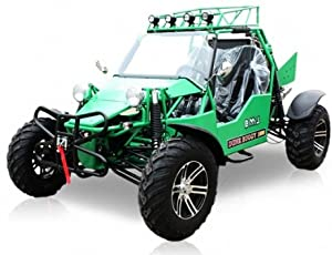 BMS Sand Sniper 1000 GREEN Gas 4 Cylinder 2 Seat Dune Buggy Go Kart