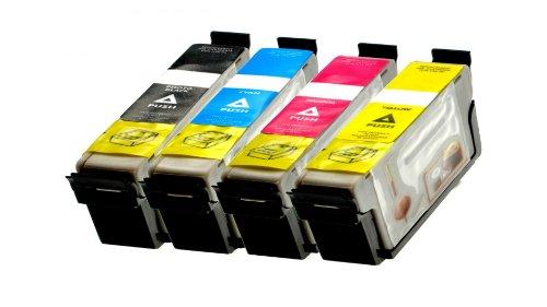 Kompatible Ink strahl Patronen für Epson Drucker ersetzen T1811 T1812 T1813 T1814 4er SET - Druckerpatronen für Epson Expression Home XP-202 XP-205 XP-30 XP-302 XP-305 XP-402 XP-405