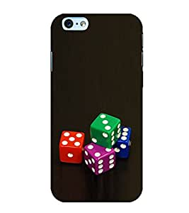 Colourful Dice 3D Hard Polycarbonate Designer Back Case Cover for Apple iPhone 6