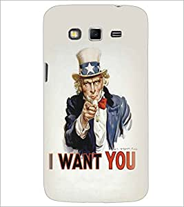 SAMSUNG GALAXY GRAND 2 I WANT YOU Designer Back Cover Case By PRINTSWAG