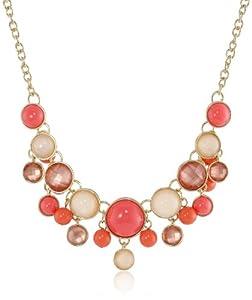 "Napier ""Sea Bubbles"" Gold-Tone Coral Frontal Necklace, 19"""