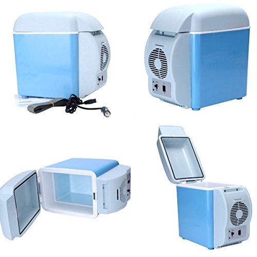 New 12V Blue Car Small Refrigerator Mini Fridge Cooler/Warmer-7.5 L (Han Solo Fridge Cover compare prices)