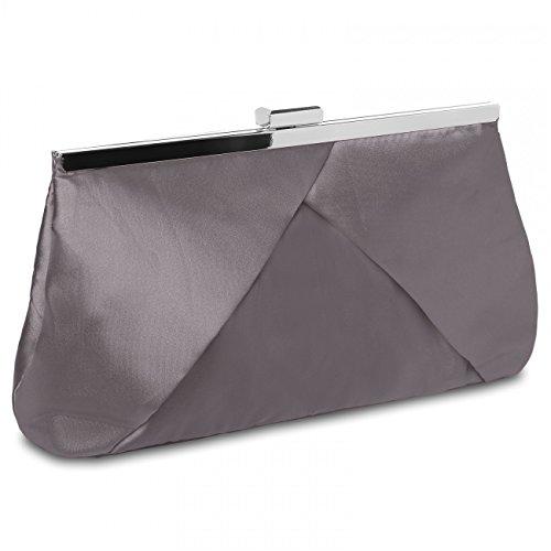 CASPAR-klassische-Damen-Satin-Clutch-Abendtasche-in-stylischem-Design-viele-Farben-TA320-Farbetaupe