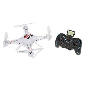 Andoer JJRC H8C 2.4G 4CH 6 Achsen Gyro RC Quadcopter Aircraft Drone RTF w / HD 2.0MP Kamera Schwarz / Weiß