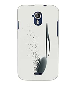 PrintDhaba Music D-2130 Back Case Cover for MICROMAX A116 CANVAS HD (Multi-Coloured)