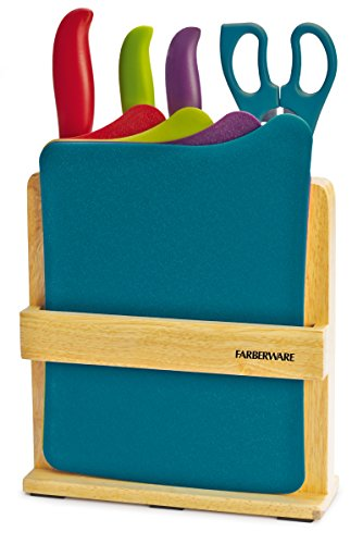 Farberware 9-Piece Knife and Cutting Board Set with Storage Block