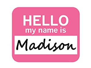 Amazon.com: Madison Hello My Name Is Mousepad Mouse Pad: Computers