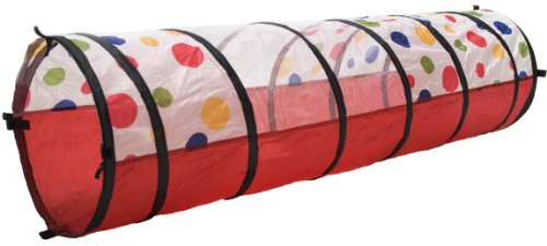 Best Review Of Polka Dot Development Crawl Play Tunnel w/ Tote Bag