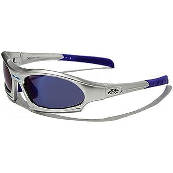 X-Loop Lunettes de Soleil - Sport - Cyclisme - Ski - Conduite - Moto - Plage / Mod. 5101 Gris Bleu Spectrum Blue / Taille Unique Adulte / Protection 100% UV400