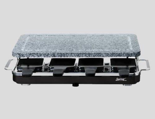 Raclette 8 Granit-Stein Schwarz