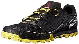 Reebok Men\'s All Terrain Super Or Running Shoe, Black/White/Yellow Spark/Coal, 10 M US