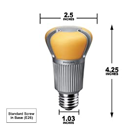 PHILIPS EnduraLED 17 Watt A21 Dimmable LED Light Bulb 1100Lm ~ 75w equiv