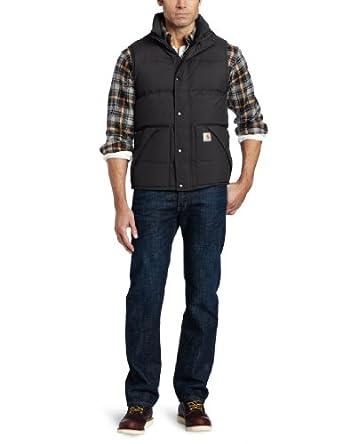 Carhartt Men's Down Kalkaska Vest, Black, Small