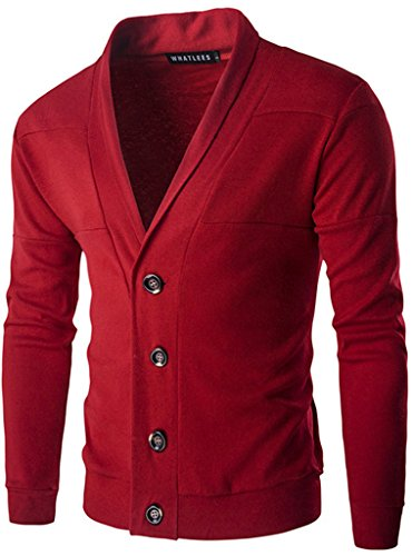 whatlees-unisex-hip-hop-urban-basic-basic-cardigan-cardigan-with-contrasting-inset-b195-red-l