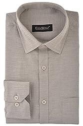 Edinwolf Men's Formal Shirt (EDFR726_40, Grey, 40)