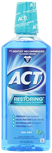 ACT Restoring Mouthwash, Cool Splash Mint, 18-Ounce Bottle