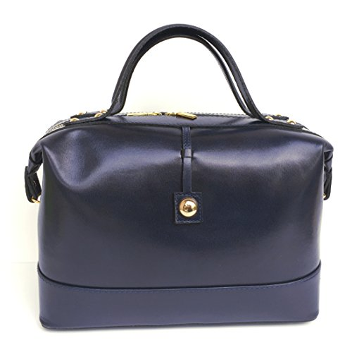 Superflybags Borsa Bauletto Donna in Vera Pelle Liscia modello Serena Made in Italy