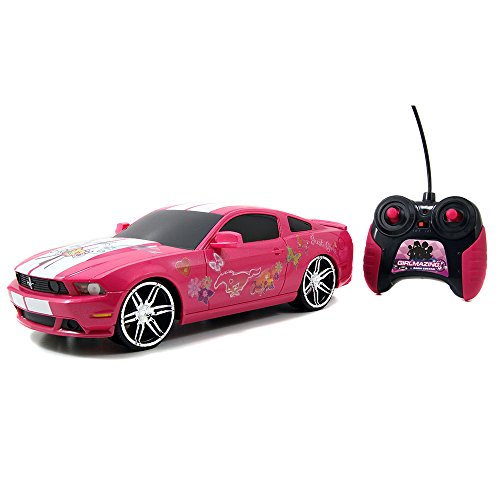 Jada Toys Girlmazing 1:16 R/C Assortment 2012 Ford Mustang Boss 302- M. Vehicle, Hot Pink (Ford Mustang Pink compare prices)