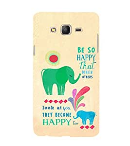 iFasho life Quotes on happiness Back Case Cover for Samsung Galaxy On5 Pro