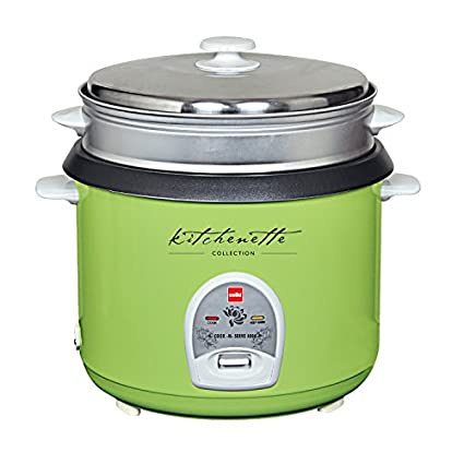 Cello-Cook-N-Serve-400-A-2.8-Litre-1000-Watt-Rice-Cooker-(Green)