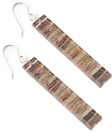 Long Eco Resin Earrings- Banana fiber