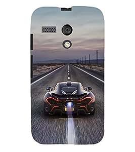 Printvisa Speeding Sports Car Back Case Cover for Motorola Moto G X1032::Motorola Moto G (1st Gen)