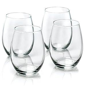 Anchor Hocking 15-Ounce 4-Piece Stemless Wine Glass Set