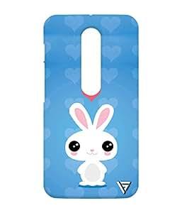 Vogueshell Cute Rabbit Printed Symmetry PRO Series Hard Back Case for Motorola Moto G Turbo