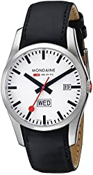 Mondaine Men's A667.30340.11SBB Retro Gents Day-Date Leather Band Watch