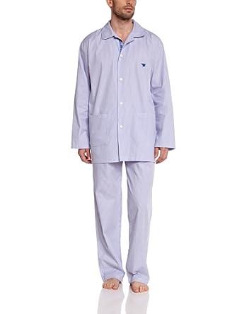 Arthur Paros - Ensemble de pyjama - Homme - Bleu - Small (Taille fabricant: S)
