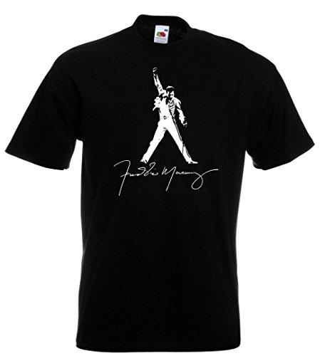 Queen, Freddie Mercury inspired , t shirt, Cotton,100% Cotton, Men's, Women, Kids (L, Nero)
