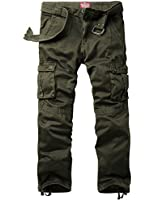 Match Men's Casual Cargo Trousers Chinos