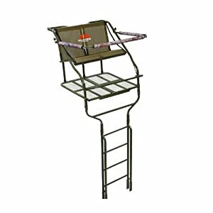 Millennium L-220 18-Foot Steel Double Ladder Tree Stand with ComfortTech Seats for... by Millennium