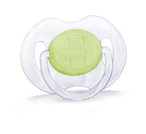 Philips AVENT BPA Free Translucent Orthodontic Infant Pacifier, 0-6 Months, Color May Vary, 2-Pack