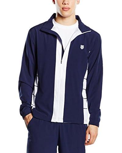 K-Swiss Jacke Combi Warm Up blau/weiß