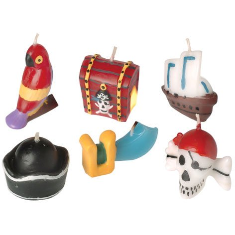 Pirate Cake Candles